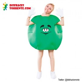 Disfraz Caramelo M&M Adulto Verde