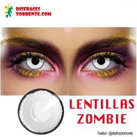 Lentíllas zombie blancas halloween