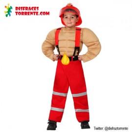 Disfraz Bombero Musculoso niño