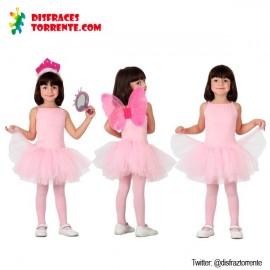 Disfraz de Bailarina Rosa niñas