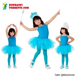 Disfraz de Bailarina Azul niñas