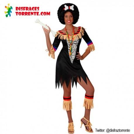 Disfraz de zulú africana sexy