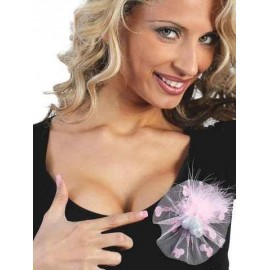 Broche pito Glitter tul rosa