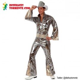 Disfraz Disco Gris Plata chico XL