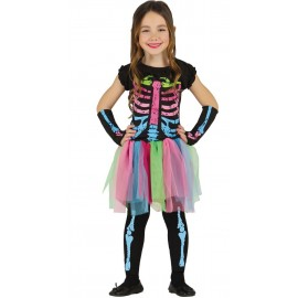 Disfraz Esqueleto Multicolor con Tutú