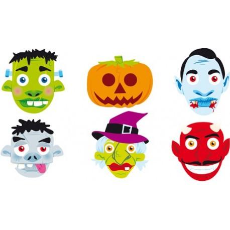 Caretas cartón horror Halloween