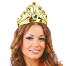 Corona o Diadema de Reina en Color Oro.