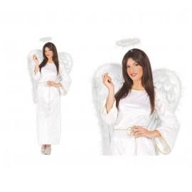 Disfraz de Angel Blanco Terciopelo
