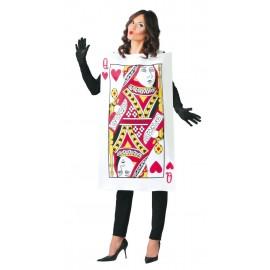 Disfraz Carta Reina de Corazones Mujer