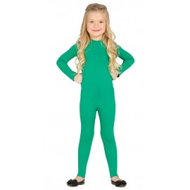 Maillot Mono Body Elastico Color Verde Infantil