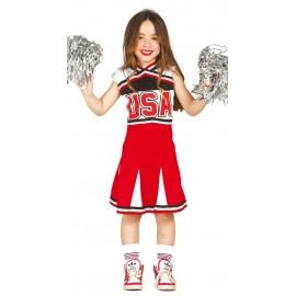Disfraz de Animadora Cheerleader para Niña