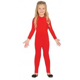 Maillot Mono Body Elastico en Color Rojo Infantil