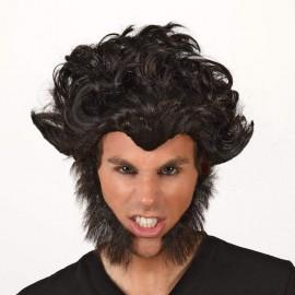 Peluca de Hombre Lobo con Patillas.