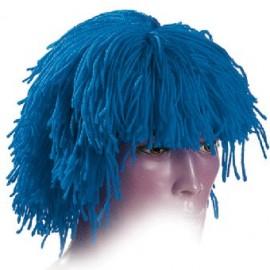 Peluca de Lana Azul