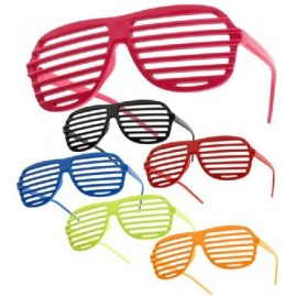 Gafas rayas gigantes colores