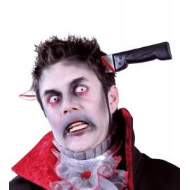 Cuchillo de Broma con Diadema Sangriento