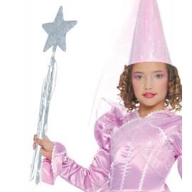 Varita de Hada Princesa en Color Plata