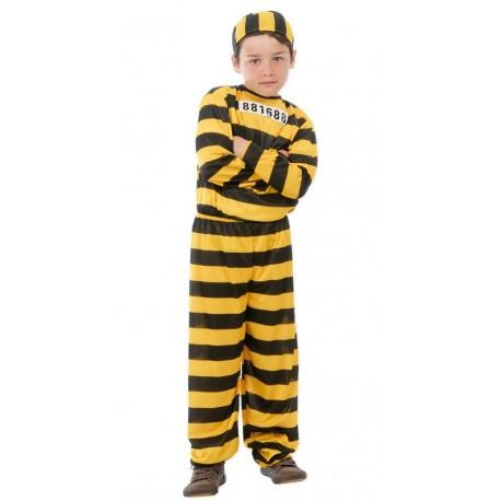 Disfraz de Preso en Color Amarillo para Niños