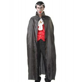 Capa de Vampiro Dracula de Tela Negra Adulto