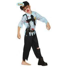 Disfraz de Policia Zombie para niño