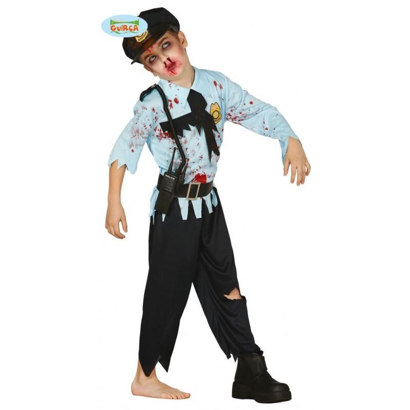 Disfraz De Policia Zombie Para Ni O Env O Garantizado 48h