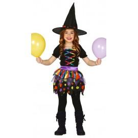Disfraz de Bruja de Colorines Infantil