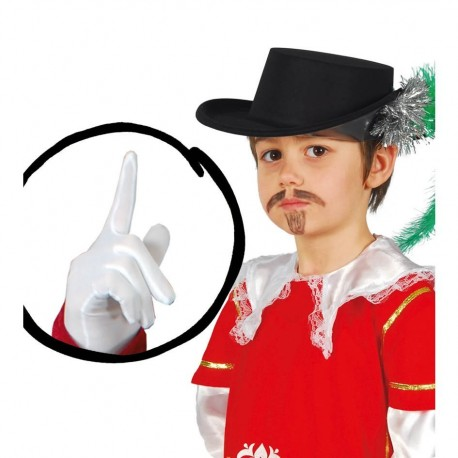 Guantes Cortos Blancos Infantiles