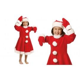 Disfraz de Mama Noel para Niña.
