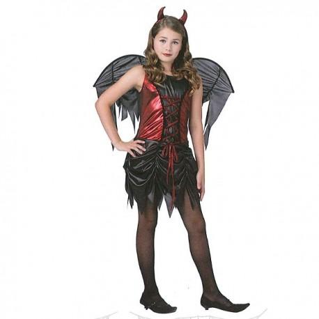 Disfraz Demonia Rojo-Negro