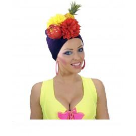 Sombrero de Frutas para Hawaiana o Rumbera