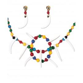 Conjunto de Collar y Pendientes para Disfraces de Indios