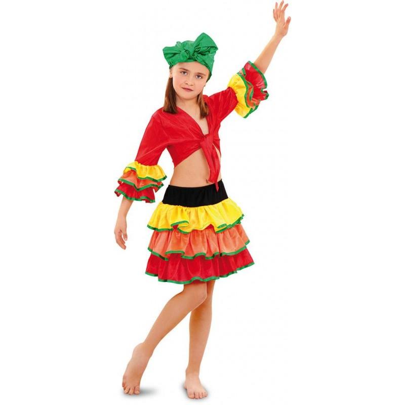 Disfraz de Rumbera para niñas. Envío garantizado 48h