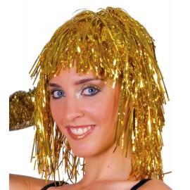 Peluca Disco en Color Oro