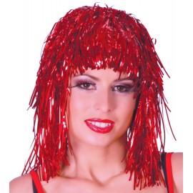 Peluca Disco Brillante Roja