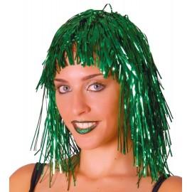 Peluca Disco Brillante Verde