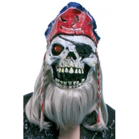 Careta Calavera Pirata Barba