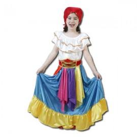 Disfraz Zingara azul (2-4 años)