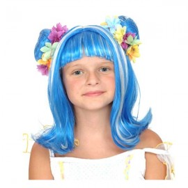 Peluca Hada Azul/Blanco
