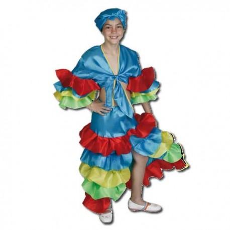 Disfraz Rumbera Azul - Disfraces Torrente
