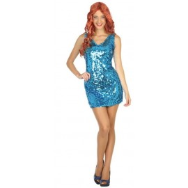 Disfraz Disco Azul para Mujer